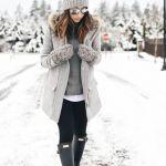 20+ Χειμωνιάτικα Outfits με hunter μποτες