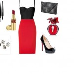 corset La Perla και μια pencil φούστα Valentino