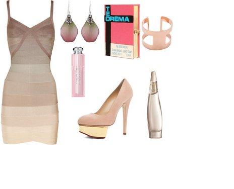 d46b3f192294dd8f5aa83dc9376c836f - Look of the day με φόρεμα Hervé Léger και γόβες Charlotte Olympia