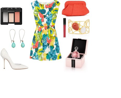floral φόρεμα Alice + Olivia - Look of the Day με floral φόρεμα Alice + Olivia