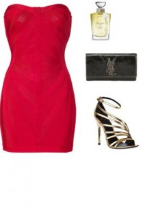 5afc6432455e3c92c13da05acc21cfb7 228x300 - Look of the day με φόρεμα Herve Leger και ένα clutch YSL
