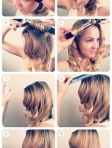 TBDwavestutorial1 228x300 - Hair Vintage style Κυματιστά μαλλιά