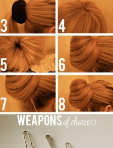 how to sock bun 2 228x300 - Hair Ψηλό σινιόν