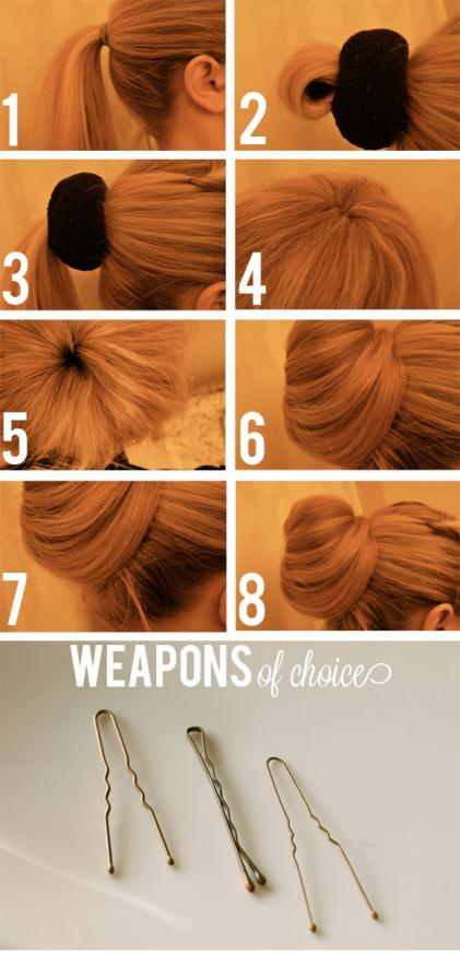 how to sock bun 2 - Hair Ψηλό σινιόν