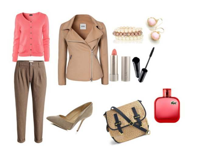 Clip2 - Look of the day με παντελόνι Esprit