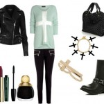 Look of the day biker style with Michael Kors pants_1