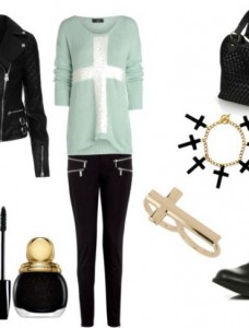 Look of the day biker style with Michael Kors pants 1 228x300 - Look of the day biker στυλ με παντελόνι Michael Kors