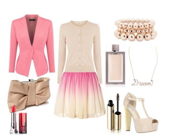 Clip 210 - Look of the day Ένα θηλυκό σύνολο σε ροζ-nude αποχρώσεις