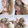 1 120x120 - Κομψό χτένισμα για σγουρά μαλλιά