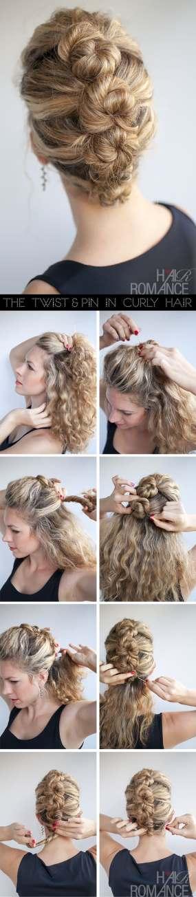 1 - Κομψό χτένισμα για σγουρά μαλλιά