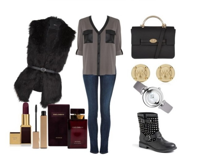 Look of the day with a Mango furry vest - Look of the day με γούνινο γιλέκο Mango