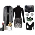 Formal set with sleek lines and shiny style