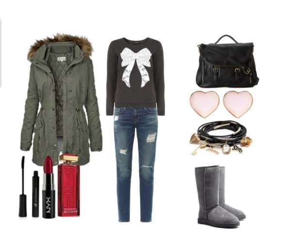 Look of the day with Ugg boots and bag Steve Madden - Look of the day με μπότες Ugg και τσάντα Steve Madden