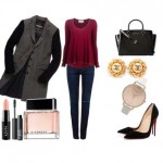 Look of the day with a pair of Christian Louboutin shoes and a handbag Michael Kors