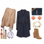 Casual chic ensemble perfect choice for the office with dress Oasis