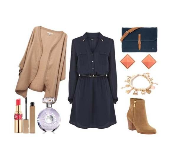 Casual chic ensemble perfect choice for the office with dress Oasis - Casual chic σύνολο τέλεια επιλογή για το γραφείο με φόρεμα Oasis