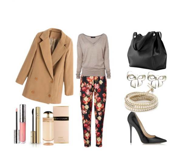 Casual stylish outfit with Jimmy Choo pumps - Casual, κομψό σύνολο με γόβες JimmyChoo