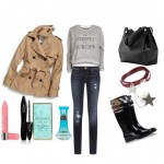 Look of the day with Burberry wellies and bag Target