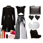 Look of the day with House of Fraser coat and a clutch Boyy Front Row