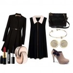 Look of the day with Ted Baker dress and booties Manfield