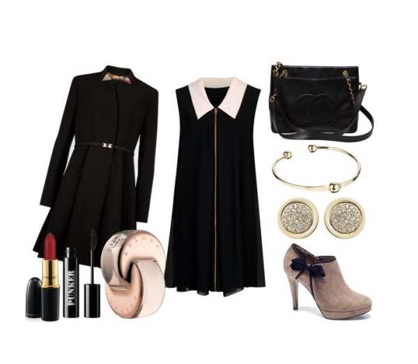Look of the day with Ted Baker dress and booties Manfield - Look of the day με φόρεμα Ted Baker και μποτάκια  Manfield