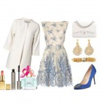 Look of the day ideal choice if you are a guest of a spring wedding