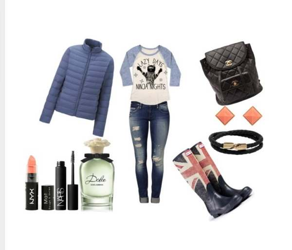 Look of the day ideal set for a dull rainy day - Look of the day ιδανικό σύνολο για μια βροχερή μουντή ημέρα