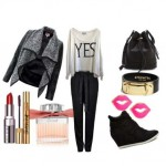 Look of the day with Wildfox sweatshirt and shoes Ash