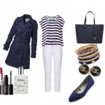 Spring elegant ensemble with navy air