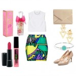 Look of the day with Topshop skirt and clutch Cicely