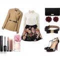 Look of the day for an elegant afternoon coffee