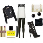 Look of the day with a rock glam style