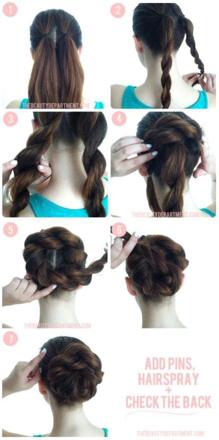 TBDbiggerbetterbuns2 - Hair Σινιόν με πλεξούδα