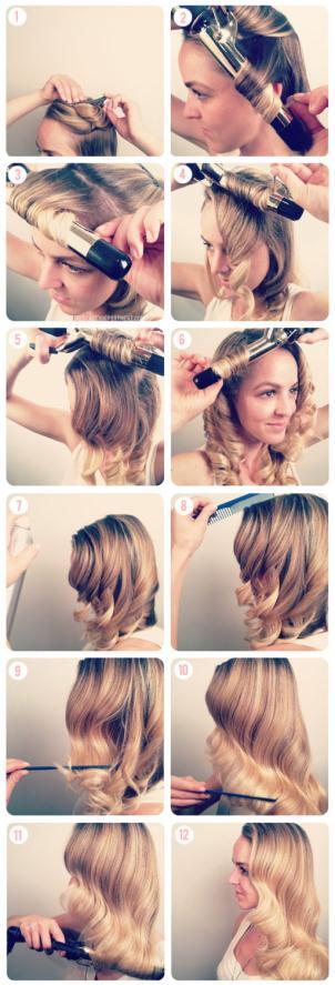 TBDwavestutorial1 - Hair Vintage style Κυματιστά μαλλιά