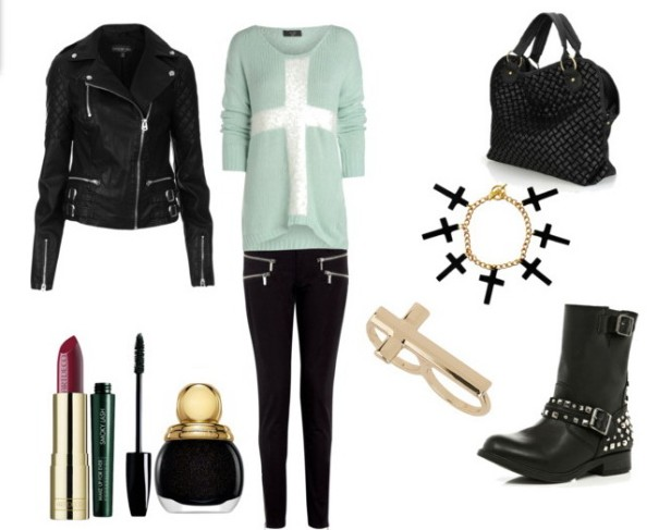 Look of the day biker style with Michael Kors pants 1 - Look of the day biker στυλ με παντελόνι Michael Kors