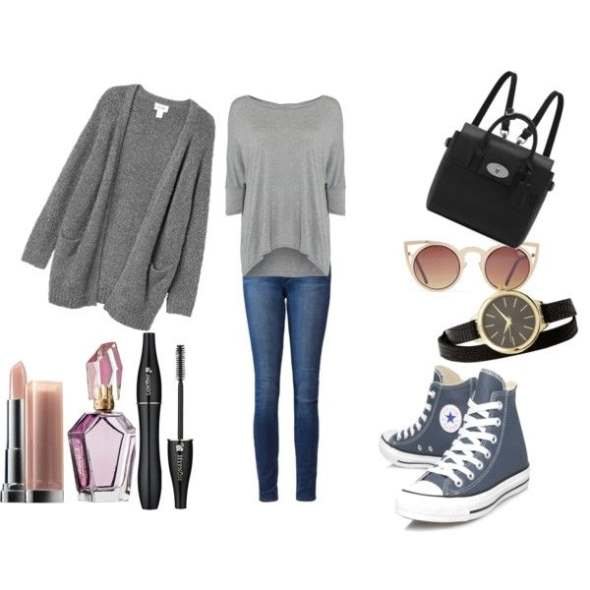 Look of the day with a Mulberry bag and Converse Shoes - Look of the day με τσάντα Mulberry και σταράκια Converse